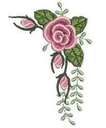 Pearl Roses 3 - 4x4 | Floral - Flowers | Machine Embroidery Designs | SWAKembroidery.com Ace Points Embroidery