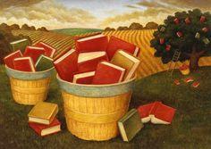 Cosecha literaria (ilustración de Chris O'Leary)