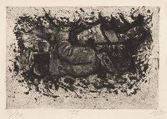 Found while digging a trench - Auberive. Der Krieg #29 by Otto Dix.