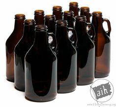 Amber 1/4 Gallon (32 oz) Glass Jug (12/case)