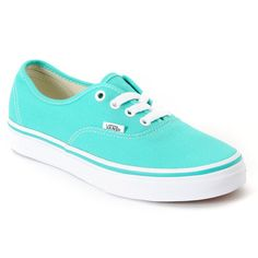 cd2d4c7fc7caab Vans Authentic Pool Green White Shoe ( 45) ❤ liked on Polyvore. I want