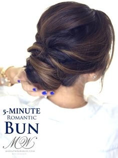 5-Minute Elegant Bun Hairstyle | Click to Watch | #Hairstyles