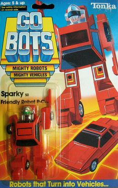 "gobots sparky | GoBots ""Sparky"" Transforming Robot (Tonka) *SOLD*"