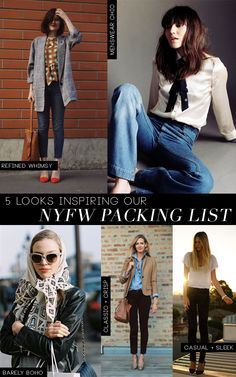 5 Looks Inspiring Our NYFW Packing List