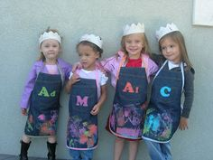 Presserfoot.com: OLD THINGS MADE NEW: jeans into kid's aprons