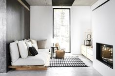 Love this modern home in Finland in neutral colors…grays, tans, whites and blacks. Works. Doesn't...