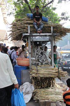 Sugar cane juice vendor, Mumbai, India