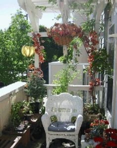 Bright balcony garden from Art and Interior.