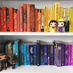 Heard you guys liked colourful books  #shelfie by sammyreadsbooks