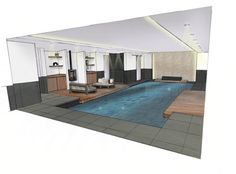 design swimmingpool at home by House of Wellness