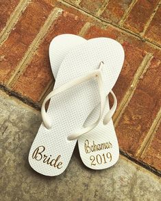 "a52656b98aa5a5 Darling Dixie Gals on Instagram  ""Planning a wedding  Our  brides adore  these  flipflops and we  love designing them just for your  specialday ..."