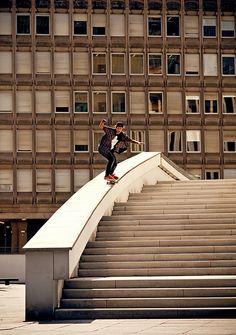 Rider: Ivo Schneiter | Trick: BombDrop 50-50 | Location: Luxembourg | Photo: Dominic Zimmermann | Spring / Summer Collection 2012 | www.zimtstern.com |