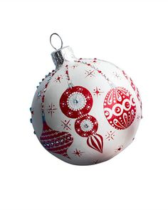 """Patricia Breen """"Beguiling Orb"""" Christmas Ball Ornament"""