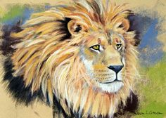 lion painting... might modge podge this on a cooler
