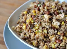 Southwest Rice and Bean Salad with Sweet and Spicy Dressing