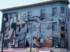 Little Italy, San Francisco - Murale dedicato alla musica Jazz