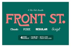Front St. Tiki Display Font Bundle by Holt510 on @creativemarket