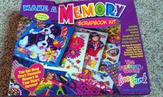 LISA FRANK Scrapbook Kit Make a Memory Vintage 90's 80's Stickers New in Box Rare!