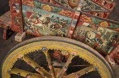 Antique Sicilian Folk Art Carved Cart : Lot 159