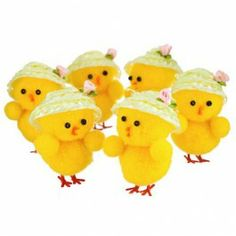 Cute Taxi Cab Easter Chick Decoration Idea with White Hat, Pink Flowers Accents, and Red Feet - Happy Easter, Easter Bunny, Easter Eggs, Easter Chick, Easter Hat Parade, Easter 2015, Easter Baskets, Easter Crafts, Pink Flowers