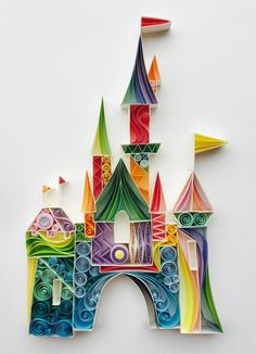 "Quilled Paper Art: ""The Place Where Wishes Come True"" - Sena Runa"