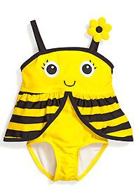 Candlesticks® One-Piece Bumble Bee Swimsuit Toddler Girls