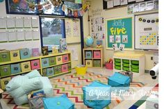 AMAZING Classroom set-up - so cozy, inviting, and I'm in love with it all!! A Year of Many Firsts!