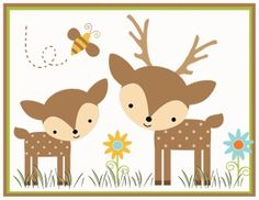 Forest Animals Baby Nursery Border. Graphics by Cocoa Mint