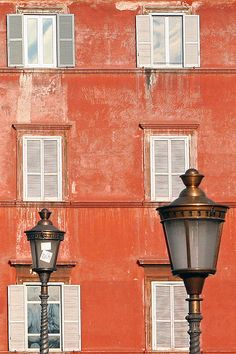 Deep orange Rome scene.
