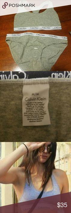 Calvin Klein Set Brand new bralette and high waisted underwear set. Calvin Klein Intimates & Sleepwear Bras