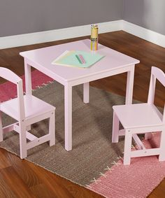 Love this Pink Kids' Table & Chairs Set by Target Marketing Systems on #zulily! #zulilyfinds