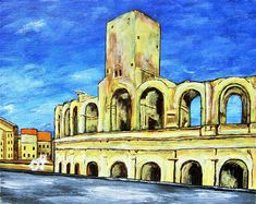 Brightscapes: The Way To Beauty  Arles Amphitheatre https://www.etsy.com/listing/199644221/arles-amphitheatre-original-acrylic  Our stomachs were perfectly satisfied as we left the little restaurant on Rue Porte de Laure. A tiny establishment with a handful of tables, ancient stone walls, worn timbered ceilings, and the finest food. We hold hands as we saunter down the crooked narrow lane of little shops and active eateries. Just as the sun casts its golden light over the city, the final…