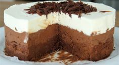 Good Chocolate Dessert Recipes is One Of Beloved Of Many Persons Round the World. Besides Simple to Create and Excellent Taste, This Good Chocolate Dessert Recipes Also Health Indeed. Greek Sweets, Greek Desserts, Köstliche Desserts, Best Dessert Recipes, Sweet Recipes, Cake Recipes, Triple Chocolate Mousse Cake, Best Chocolate Desserts, Tasty Chocolate Cake