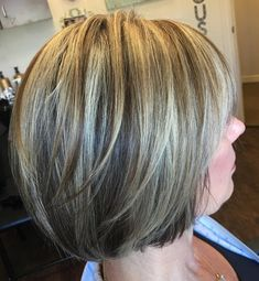 Bronde Layered Rounded Bob