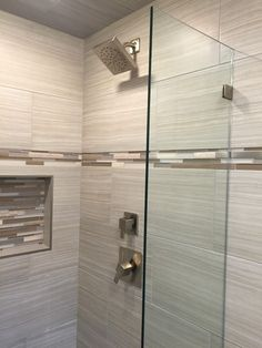 After photo - Tiled shower and new fixtures in bathroom remodeling project in Waterford CT www. Bathroom Renos, Bathroom Renovations, Home Depot Bathroom Tile, Bathroom Cabinets, Bathroom Furniture, Diy Furniture, Large Bathrooms, Small Bathroom, Guys Bathroom