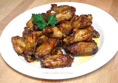 Alitas de pollo con miel y cerveza