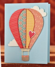 Quilted Balloon Card by @Kalyn Kepner