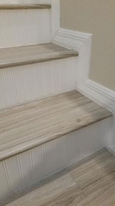 Pin By Debbie Braun On Bathroom In 2020 Stair Renovation Stair Decor Flooring For Stairs
