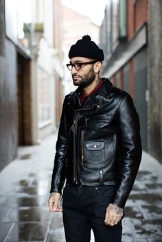 Choosing The Right Men's Leather Jackets – Revival Clothing Black Biker Jacket, Men's Leather Jacket, Biker Leather, Leather Men, Riders Jacket, Mens Biker Jacket, Motorcycle Jacket, Leather Fashion, Mens Fashion