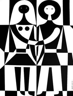 Alexander Girard, Black and White, 1971, Herman Miller