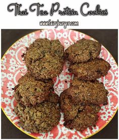 Thai Tea Protein Cookies | @fairyburger