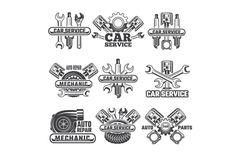Service Auto, Car Repair Service, Truck Repair, Garage Logo, Neue Tattoos, Repair Shop, Vintage Labels, Logo Vintage, Cars And Motorcycles