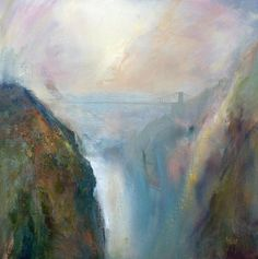 A Clifton Morning - One of those idyllic atmospheric misty mornings looking down onto the Avon as it wends its way under the Clifton suspension bridge, on its way to meet the Bristol Channel. Abstract Landscape Painting, Landscape Paintings, Watercolor Paintings For Sale, Bristol Channel, The World's Greatest, Mixed Media Art, Fine Art America, Giclee Print, Inspiring Pictures