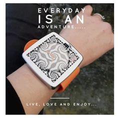 #christmasgiftideas #coolgifts #watch #siliconebracelet #zebrapattern #orangecolor