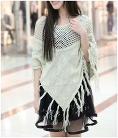 Women's Knitted Poncho