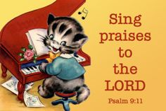 Sing praises to the Lord Christian Message Card copy