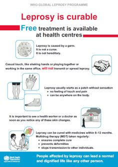 #Leprosy can be cured with medicines within 6–12 months