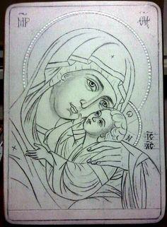 Lots of photos Catholic Crafts, Catholic Art, Byzantine Icons, Byzantine Art, Religious Icons, Religious Art, Writing Icon, Bibel Journal, Paint Icon