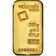 250 Gram Valcambi Cast Gold Bars From Jm Bullion Coins