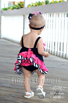 Hot Pink Zebra Swing Back Top and Matching Bloomers
